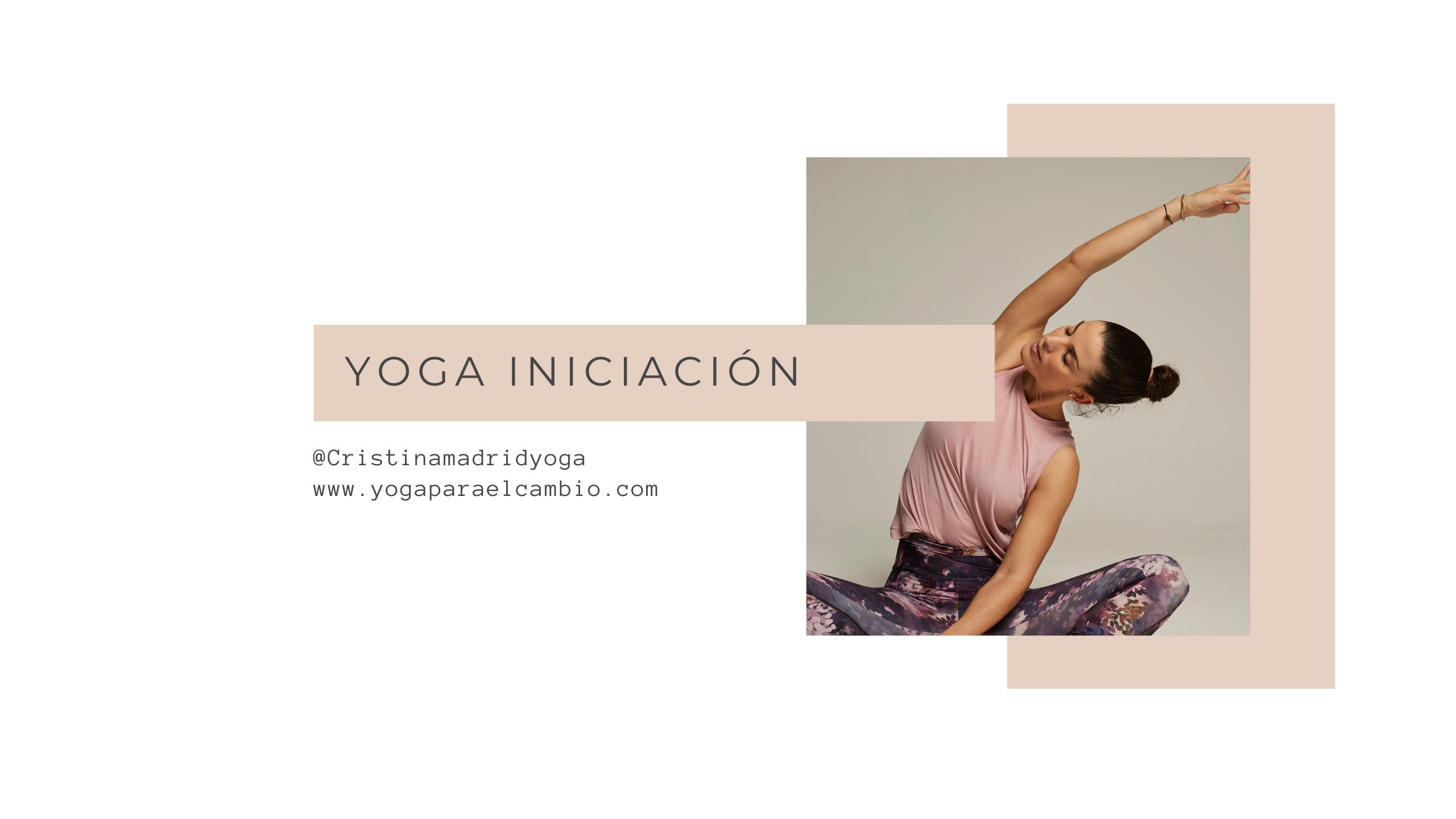 clase de yoga iniciación
