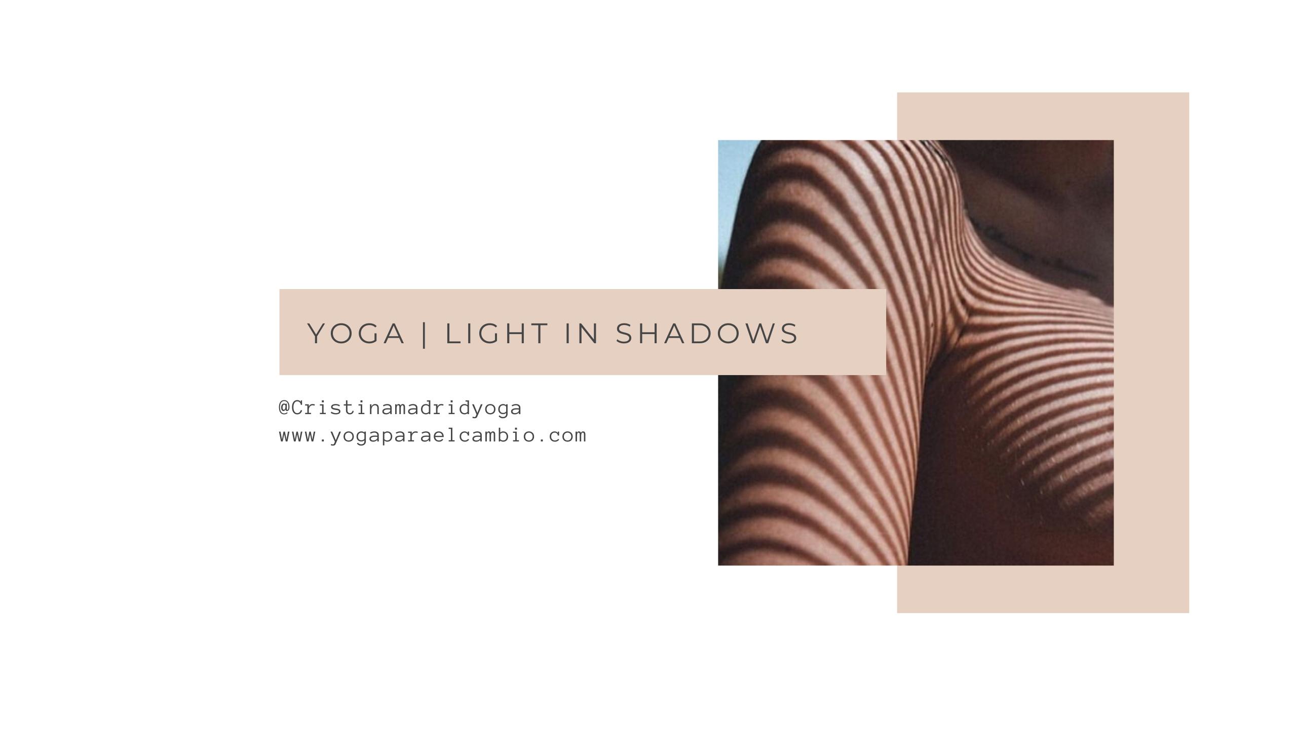 yoga luz en la sombra