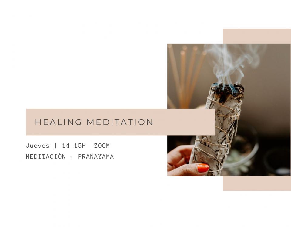 sesiones online healing meditation