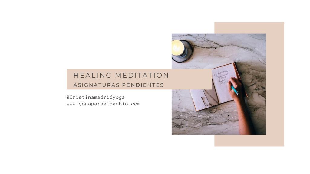 healing meditation pendientes